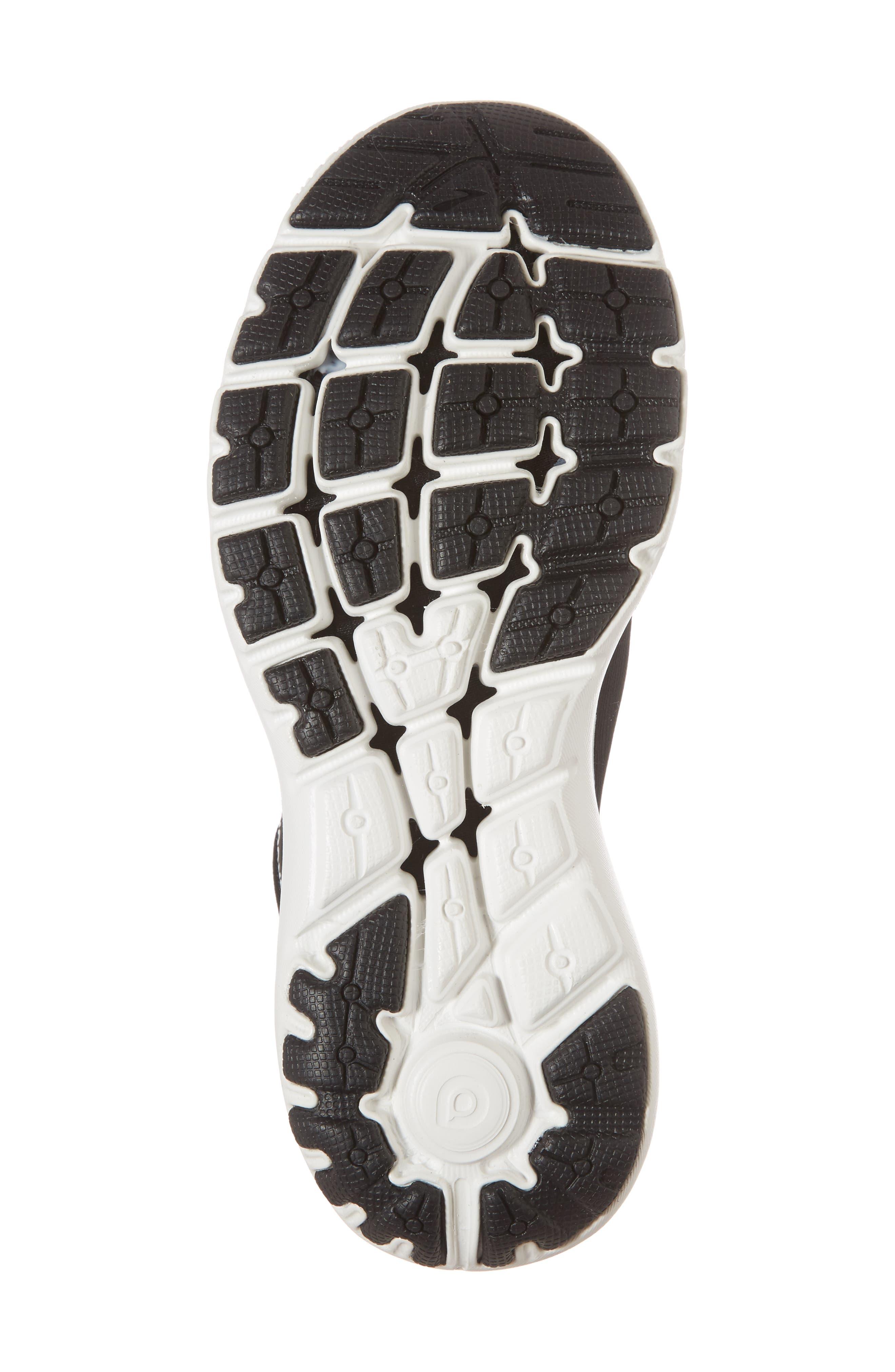 ,                             PureFlow 7 Running Shoe,                             Alternate thumbnail 6, color,                             BLACK/ WHITE