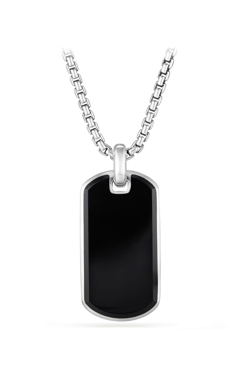 DAVID YURMAN Exotic Black Onyx Stone Tag, Main, color, BLACK ONYX