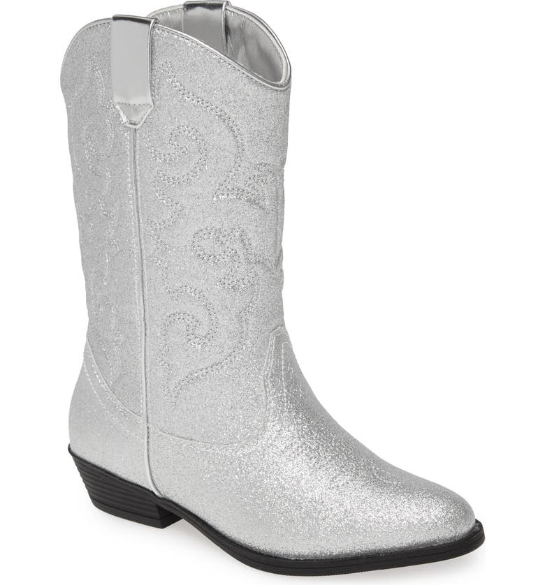 TUCKER + TATE Cowboy Boot, Main, color, SILVER GLITTER PU