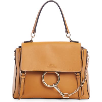 Chloe Small Faye Day Leather Shoulder Bag - Brown