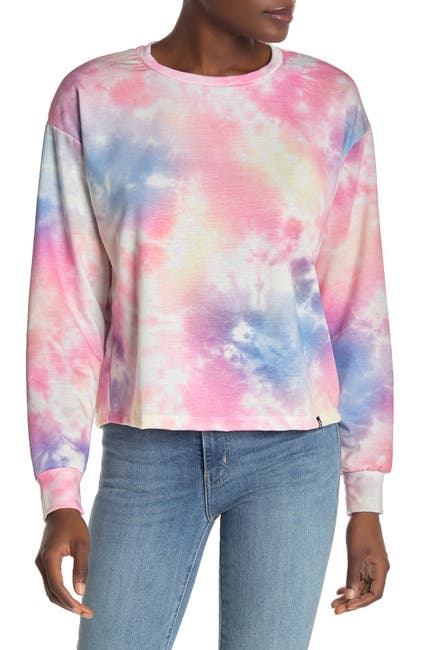 Image of CIRCLEX Tie-Dye Crop Sweatshirt