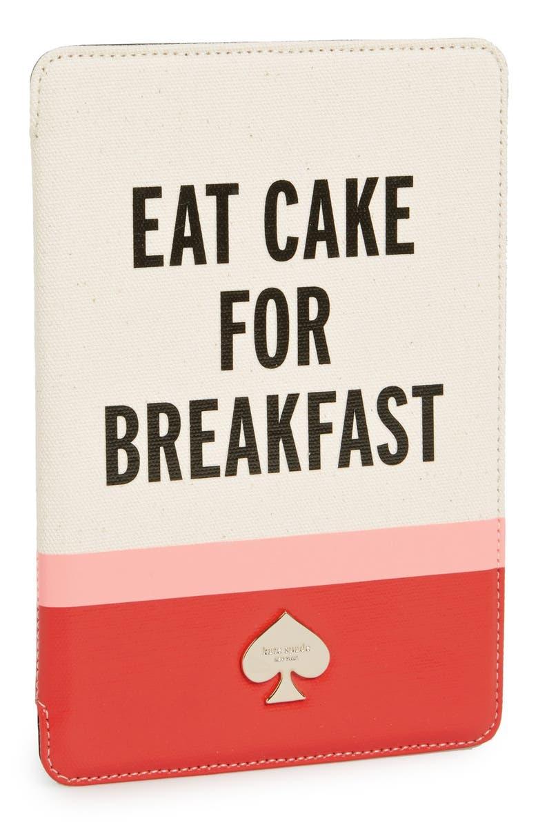 KATE SPADE NEW YORK 'eat cake for breakfast' iPad mini case, Main, color, 610