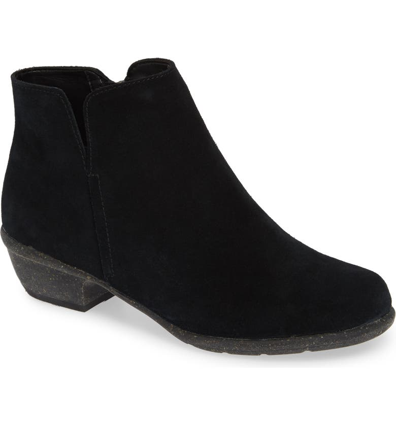 CLARKS<SUP>®</SUP> Wilrose Frost Bootie, Main, color, BLACK SUEDE