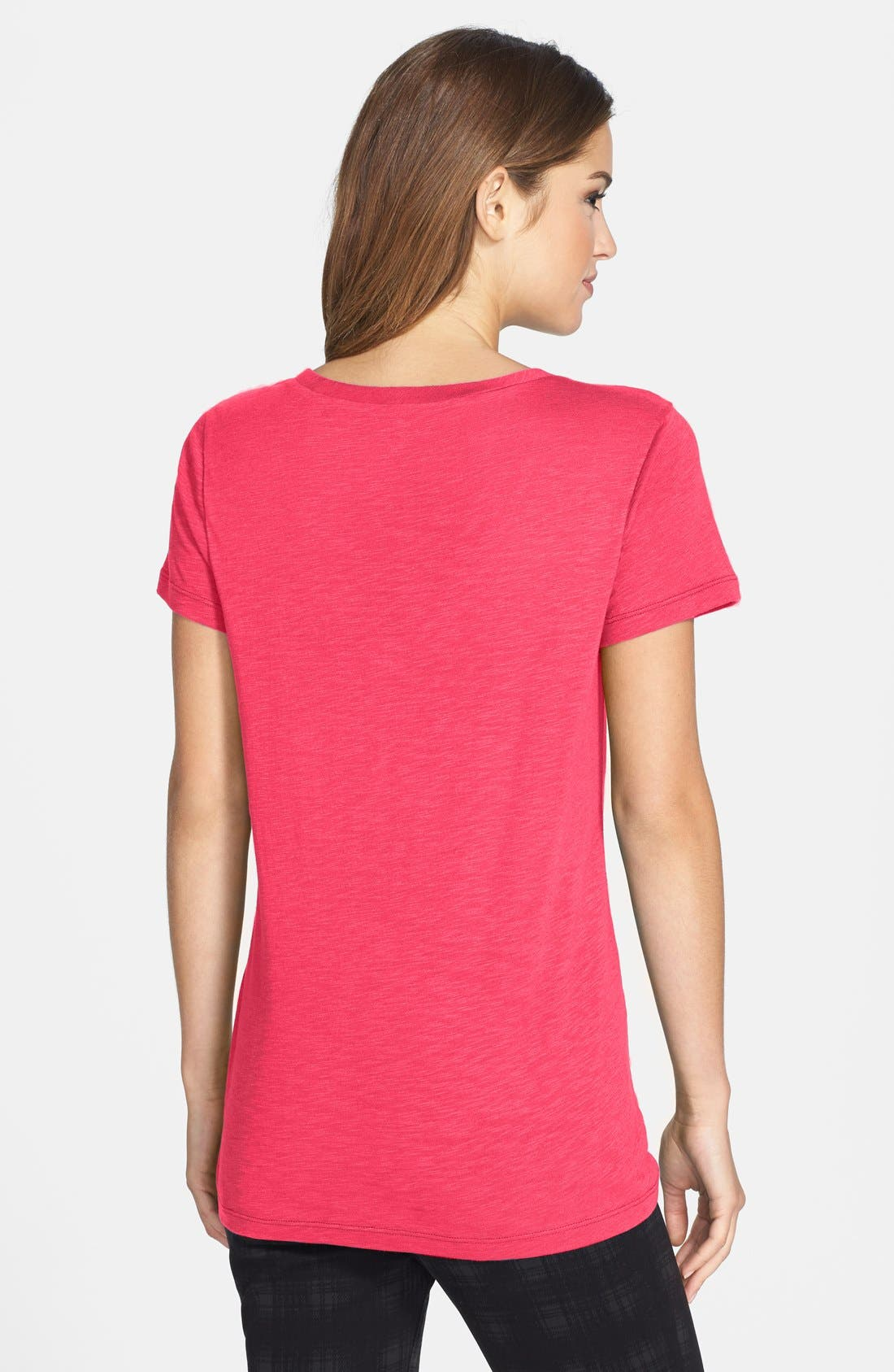 ,                             Relaxed Slub Knit U-Neck Tee,                             Alternate thumbnail 384, color,                             652