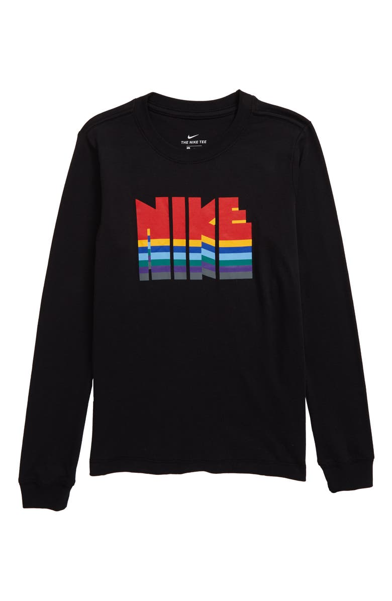 NIKE Logo Graphic T-Shirt, Main, color, BLACK/ UNIVERSITY RED