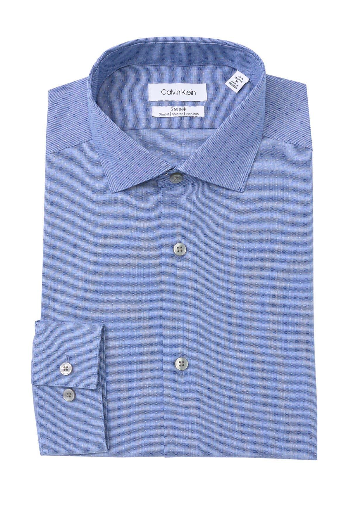 Image of Calvin Klein Slim Fit Non-Iron Stretch Dress Shirt