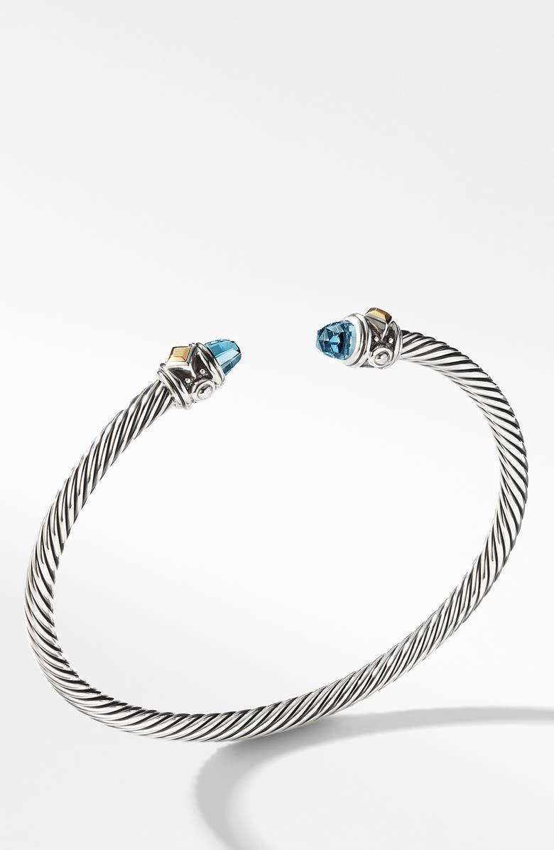 DAVID YURMAN Renaissance Bracelet with 18K Gold, Main, color, BLUE TOPAZ