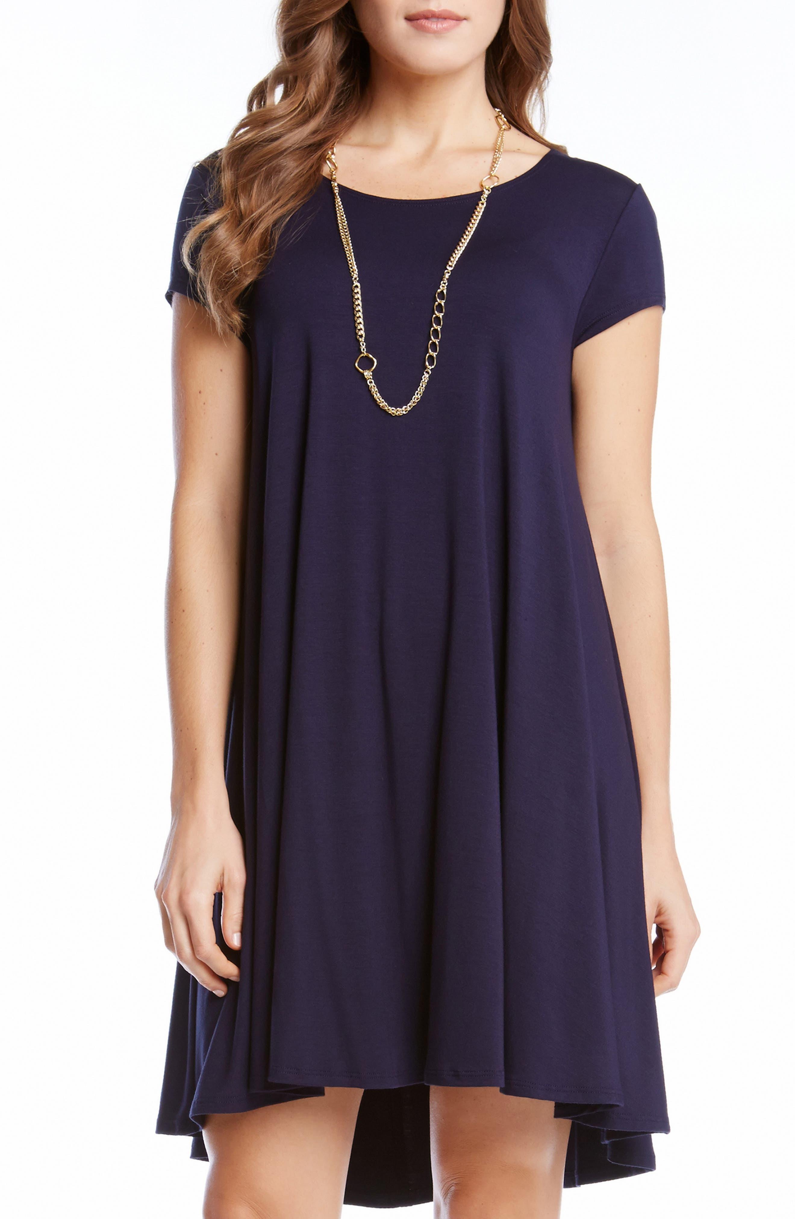 'Maggie' Cap Sleeve Trapeze Dress