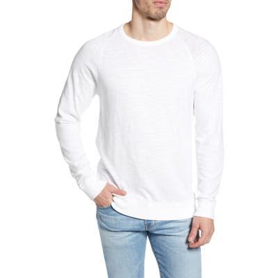 Faherty Slubbed Crewneck Sweatshirt, White