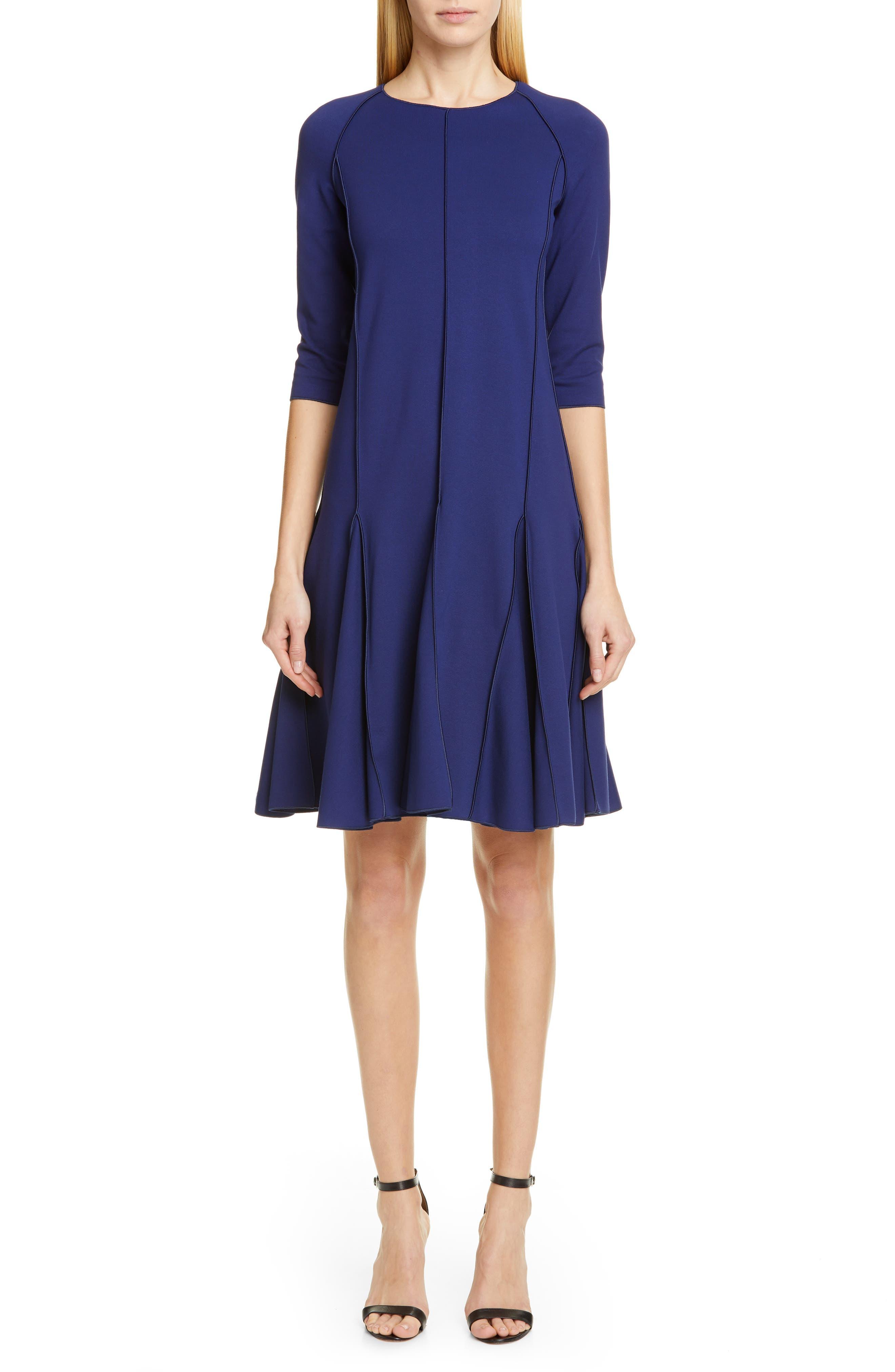 Emporio Armani A-Line Dress, US / 46 IT - Blue