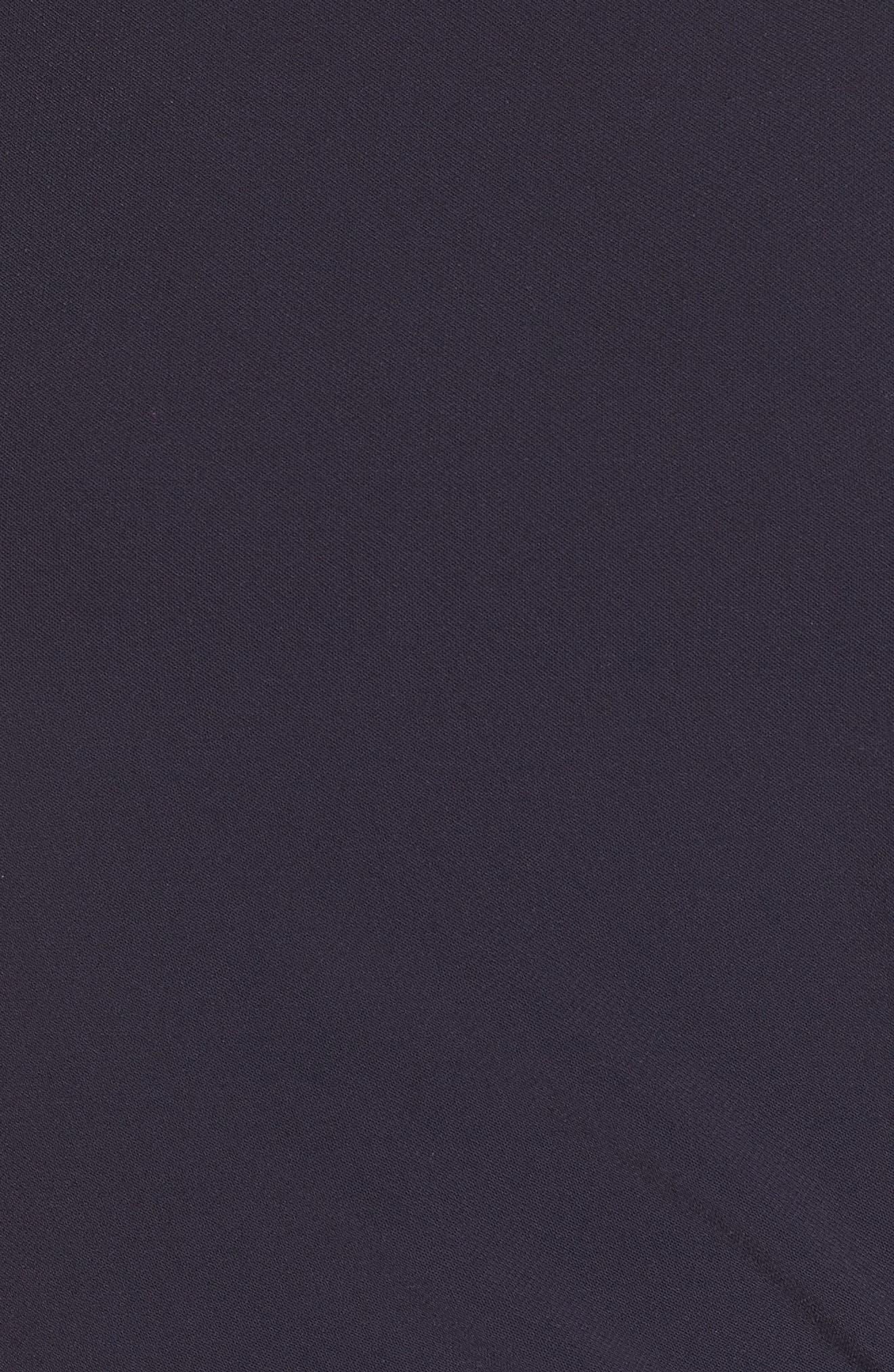 ,                             Tie Waist Crepe Crop Jumpsuit,                             Alternate thumbnail 6, color,                             NAVY