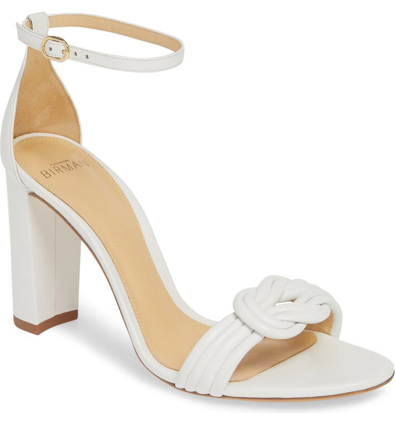 ALEXANDRE BIRMAN Chiara Knot Ankle Strap Sandal, Main, color, WHITE