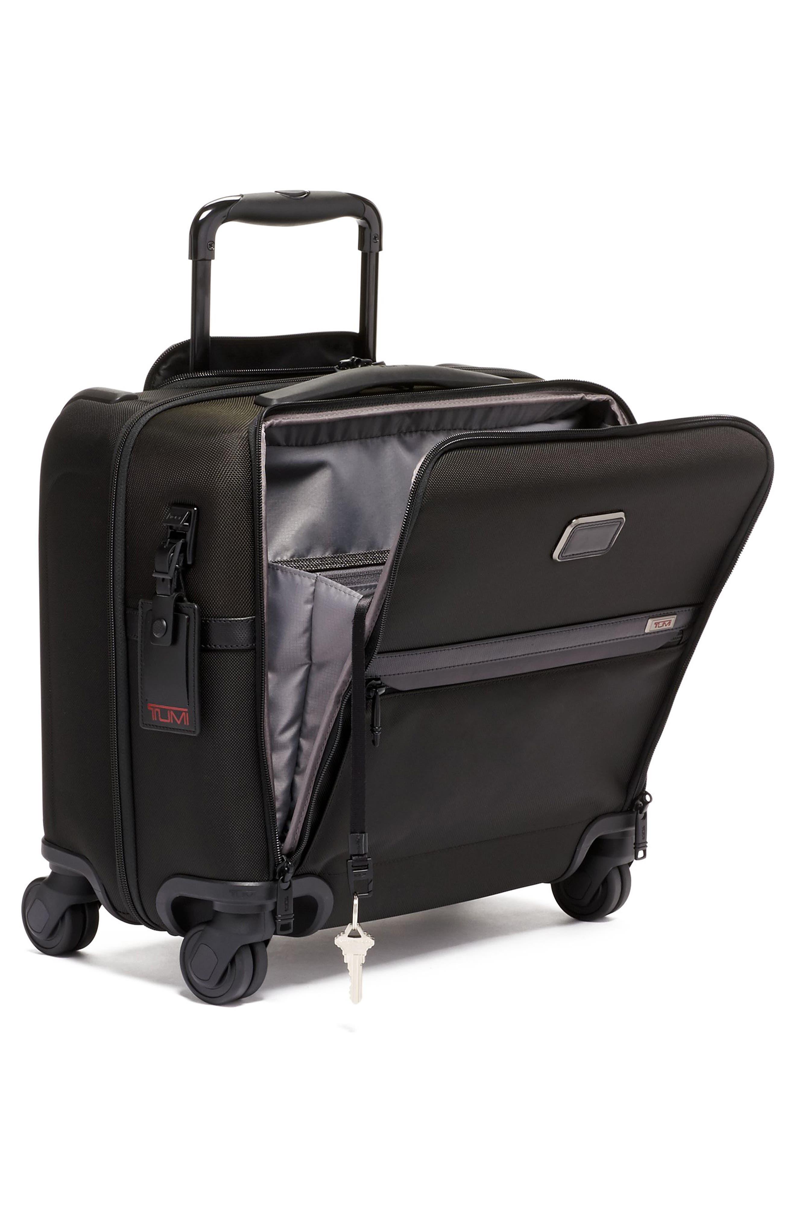 TUMI Tops Alpha 3 Collection Compact 4-Wheel Laptop Briefcase