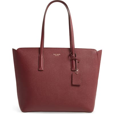 Kate Spade New York Large Margaux Leather Tote - Red