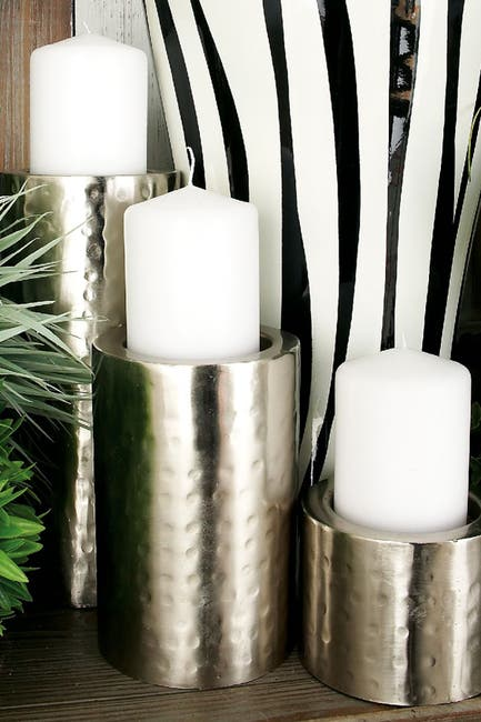 Image of CosmoLiving by Cosmopolitan Metal Candle Holder - Set of 3