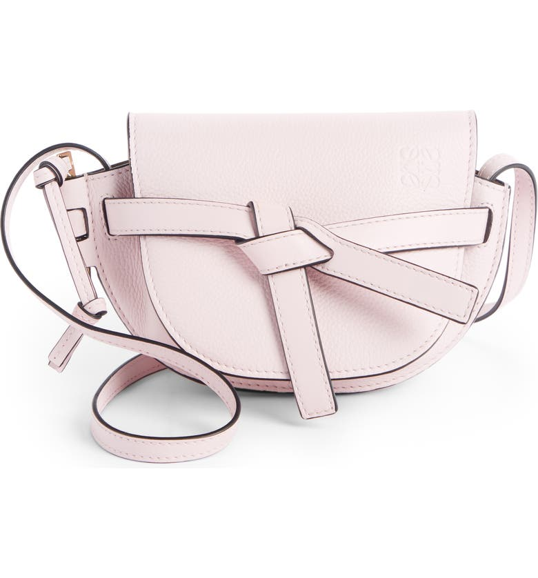LOEWE Gate Mini Leather Crossbody Bag, Main, color, ICY PINK
