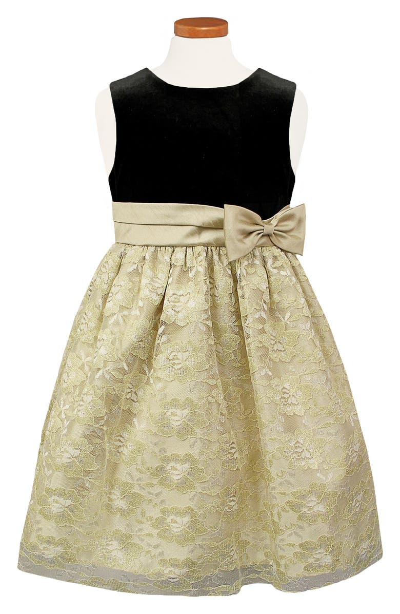 SORBET Pleated Sash Dress, Main, color, GOLD