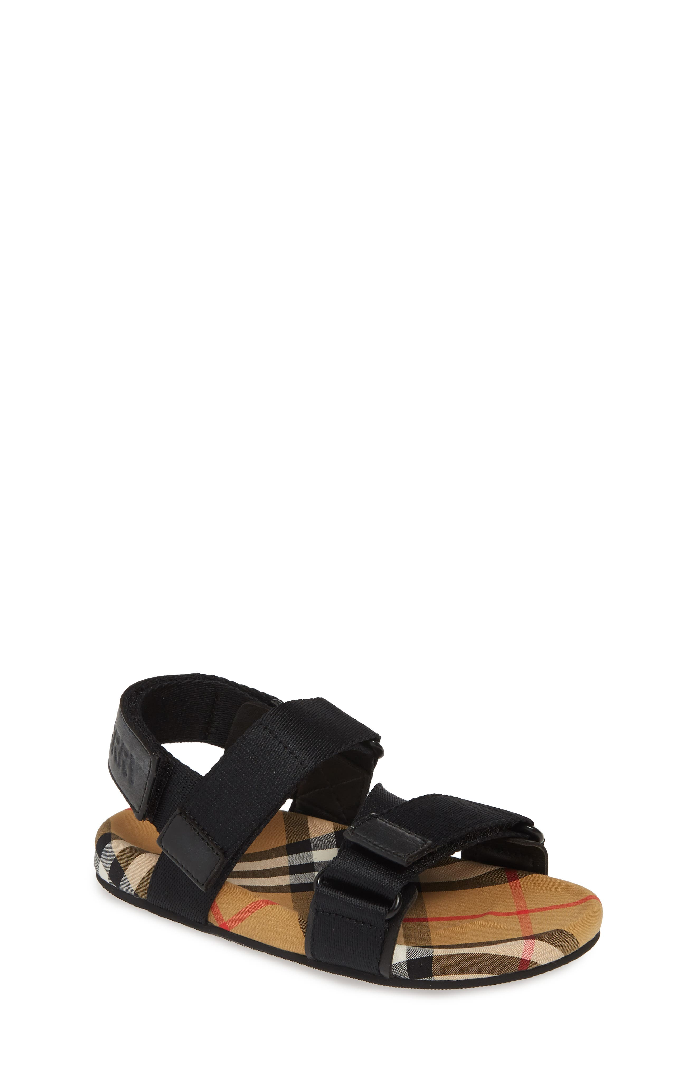 Redmire Sandal, Main, color, BLACK/ANTIQUE YELLOW