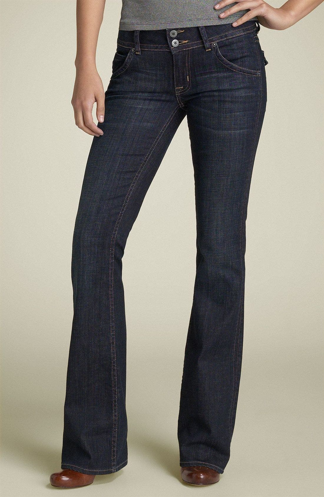 ,                             Signature Flap Pocket Bootcut Jeans,                             Main thumbnail 80, color,                             486