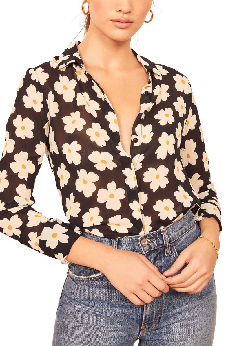 REFORMATION Violet Blouse, Main, color, GEMMA