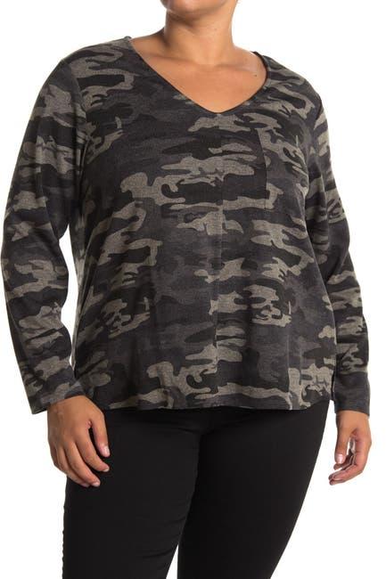 Image of Sanctuary Cozy V-Neck Pocket Pullover Sweater
