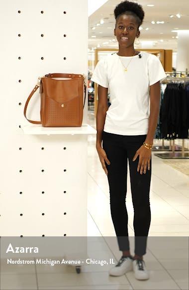 Mademoiselle Perforated Calfskin Leather Bucket Bag, sales video thumbnail