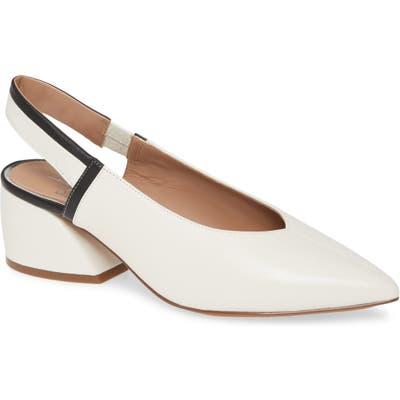 Linea Paolo Corinna Pointed Toe Slingback Pump- White