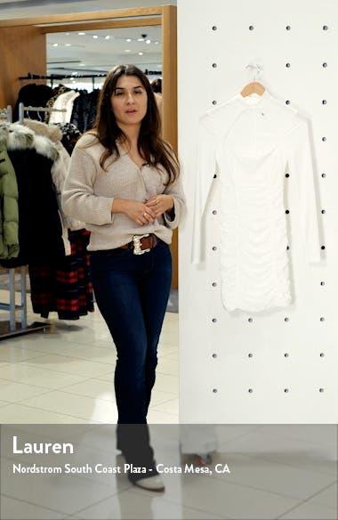 Elianna Cutout Ruched Long Sleeve Dress, sales video thumbnail
