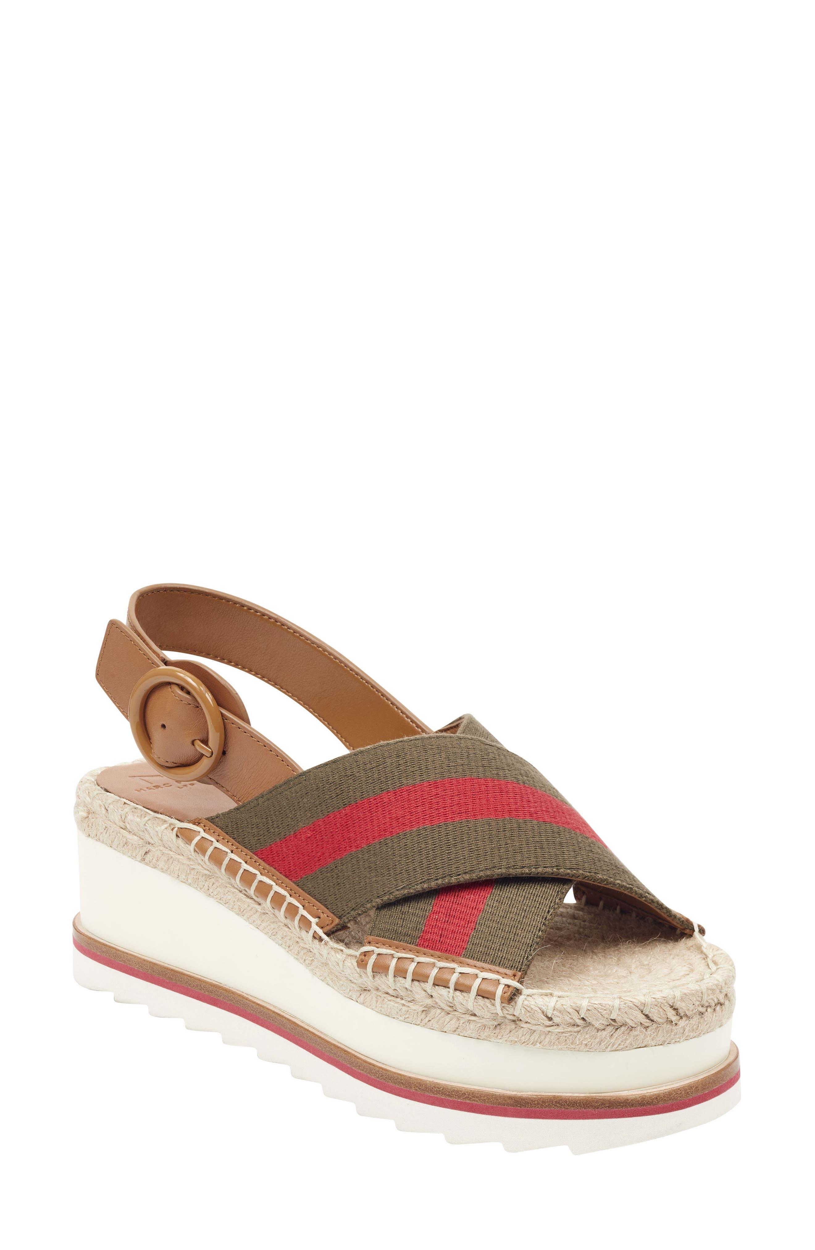 Marc Fisher Ltd Glenna Platform Slingback Sandal, Green
