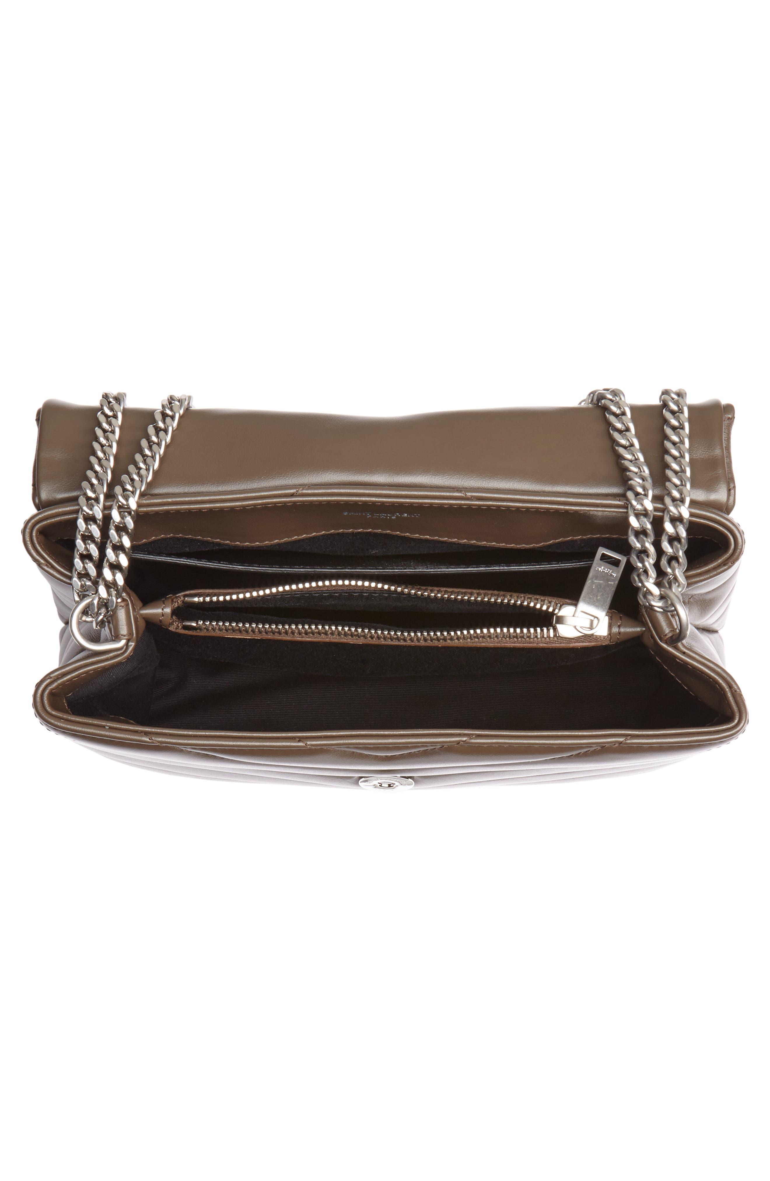 ,                             Small Loulou Matelassé Leather Shoulder Bag,                             Alternate thumbnail 4, color,                             FAGGIO/ FAGGIO