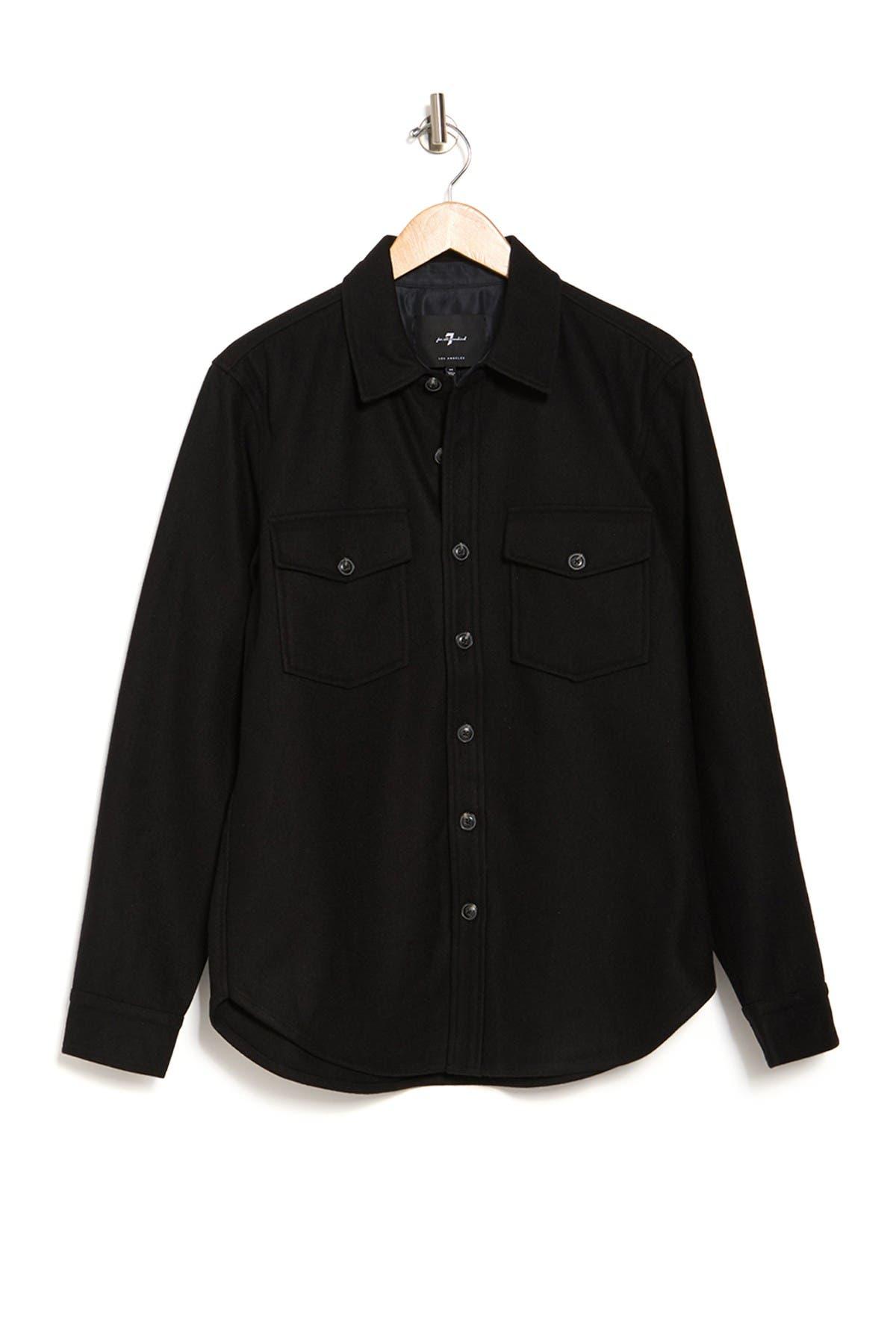Image of 7 For All Mankind Melton Shirt Jacket