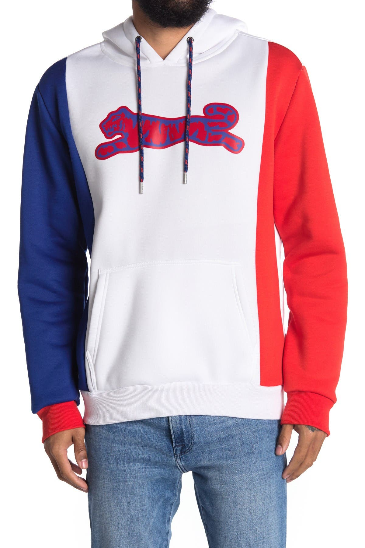 Image of Le Tigre Saint Colorblock Pullover Hoodie
