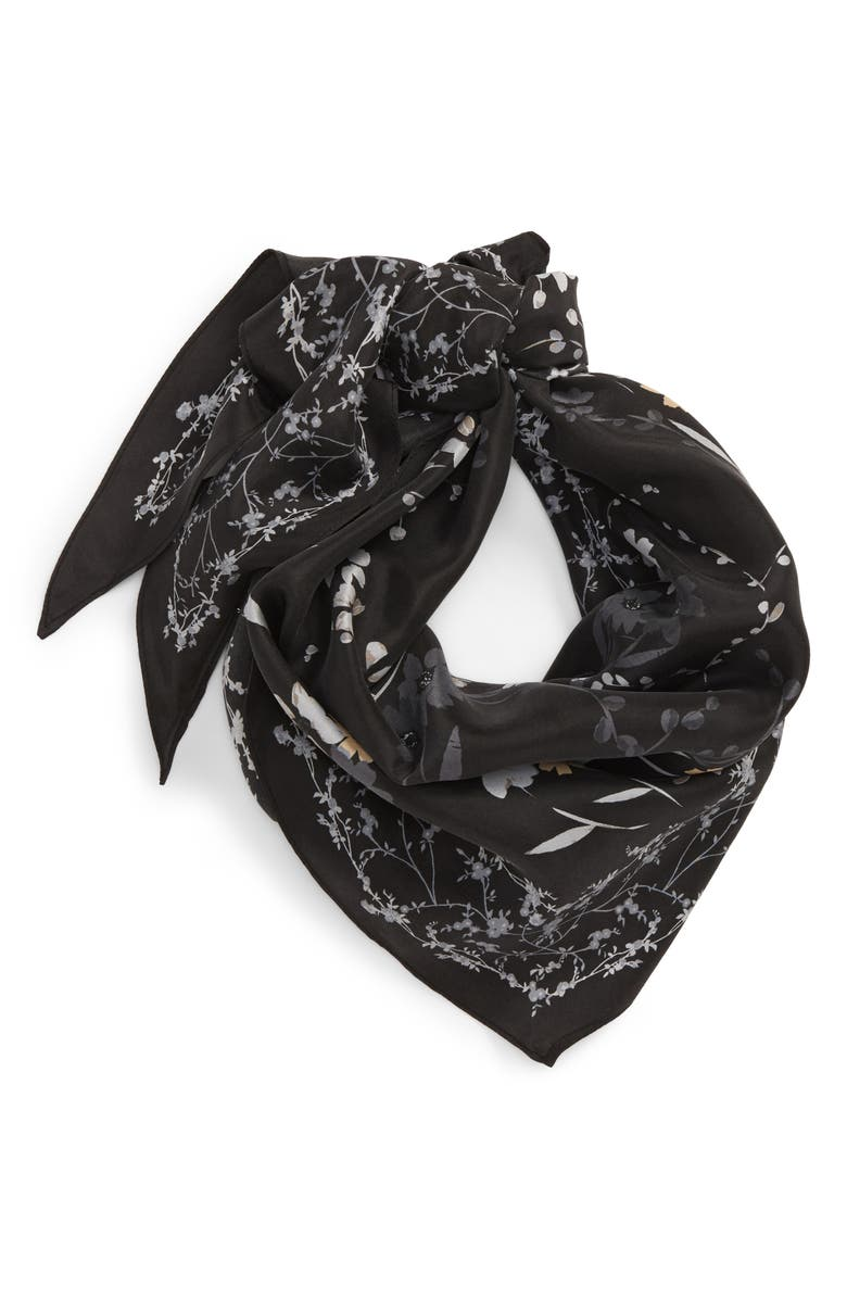 TREASURE & BOND Sandwash Silk Kite Scarf, Main, color, 001