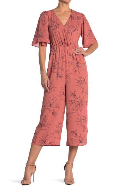 Image of Collective Concepts Floral Print Jumpsuit