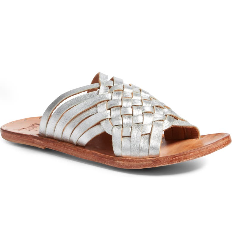 BEEK Swallow Sandal, Main, color, SILVER/ NATURAL