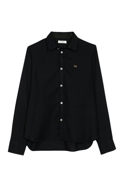 Image of Billy Reid Taped Twill Button Front Shirt