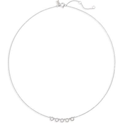 Ef Collection Diamond Open Circle Choker Necklace