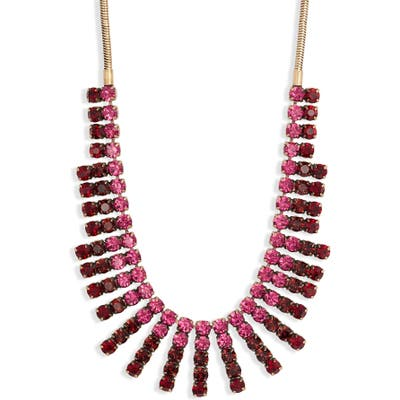 Stella + Ruby Ombre Crystal Stacked Frontal Necklace