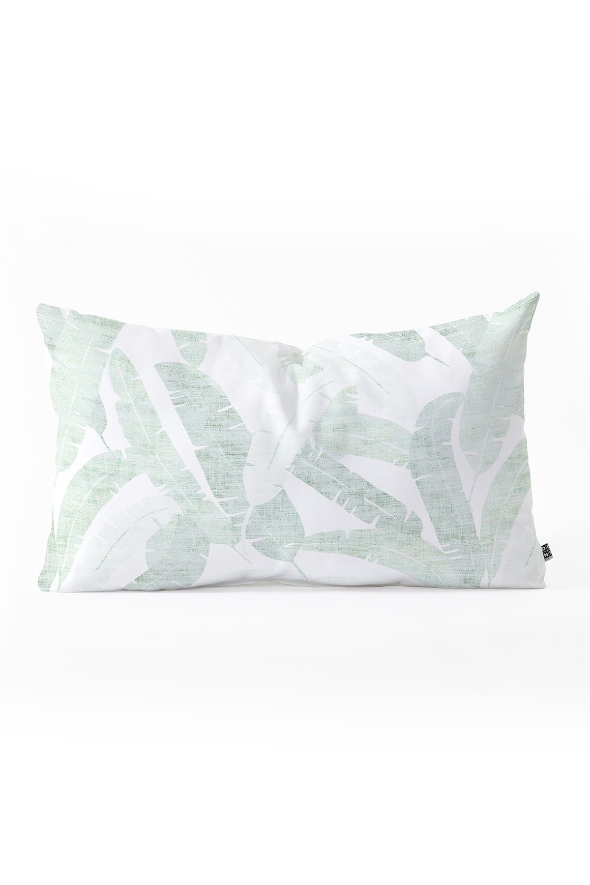 "Image of Deny Designs Holli Zollinger Banana Leaf Light Throw Pillow - 23"" x 14"""