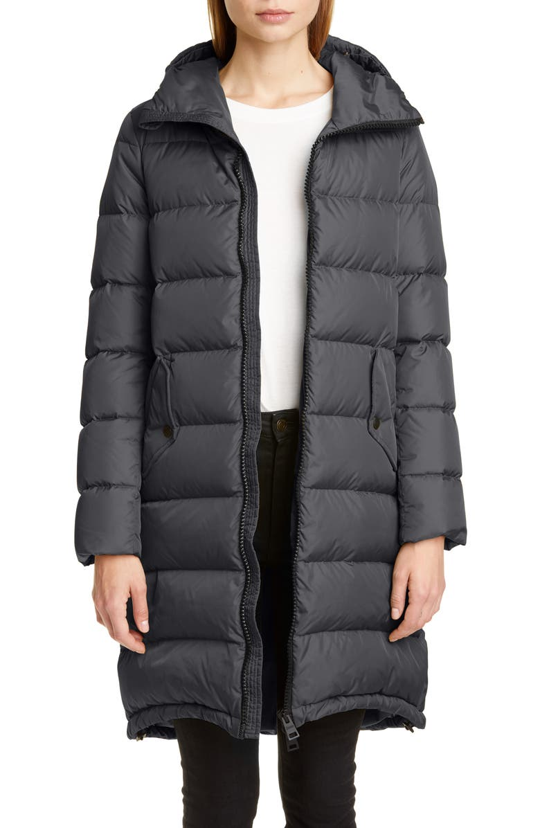HERNO High/Low Quilted Down Long Puffer Coat, Main, color, GREY/ BLACK