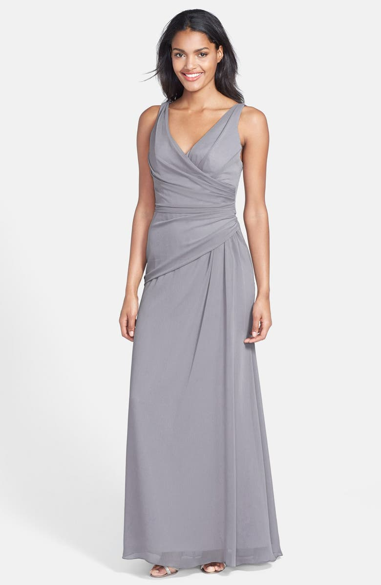 JIM HJELM OCCASIONS V-Neck Chiffon Gown, Main, color, 030