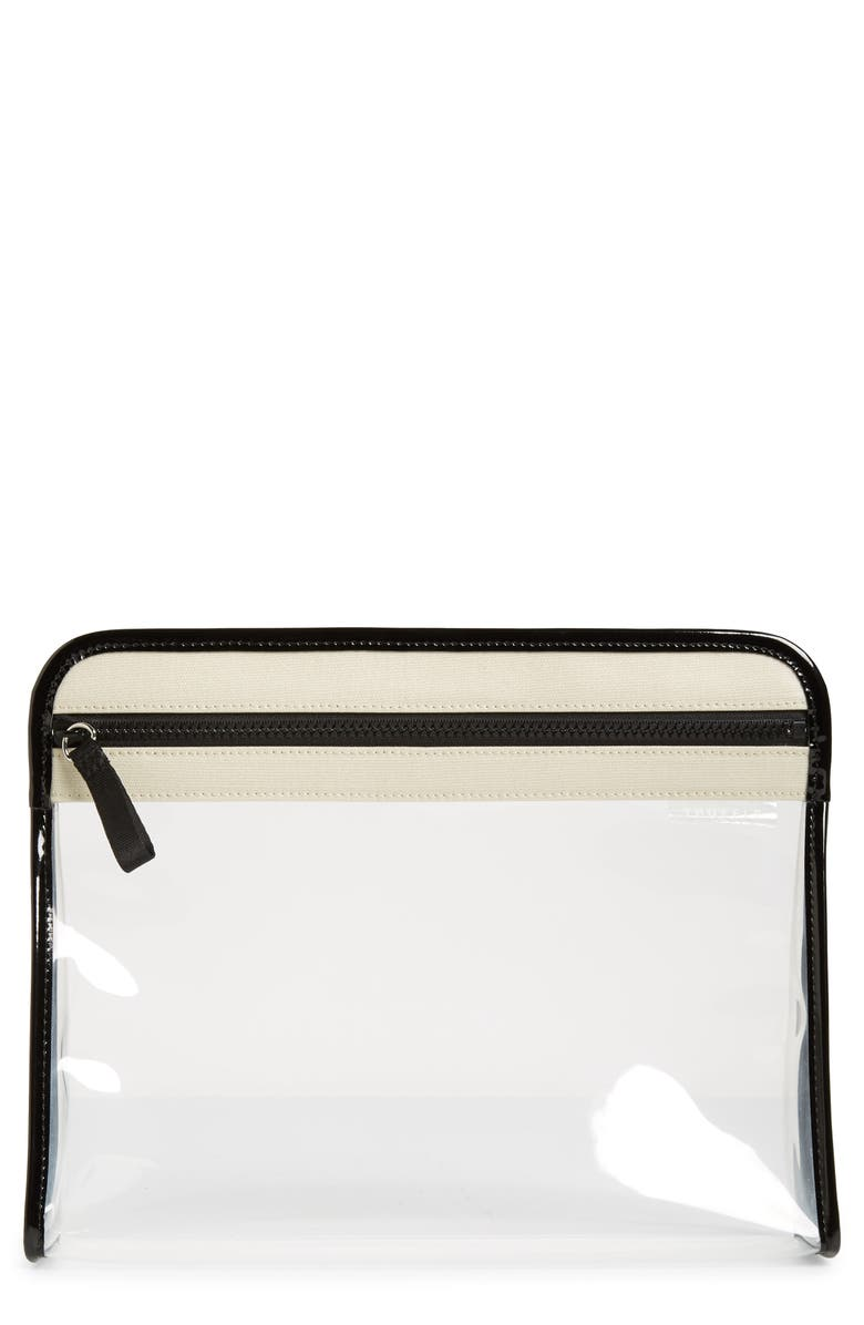 TRUFFLE Large Clarity Clear Pouch, Main, color, NATURAL