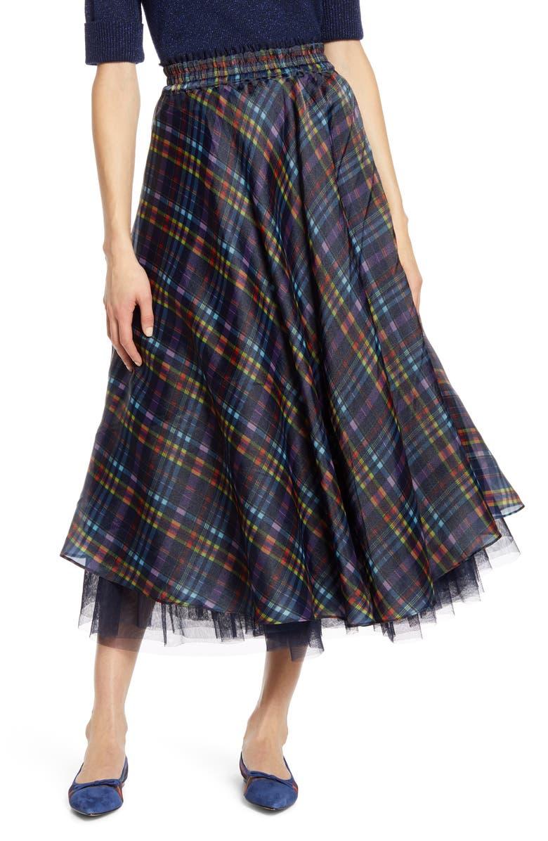 X Atlantic Pacific Full Organza Midi Skirt by Halogen