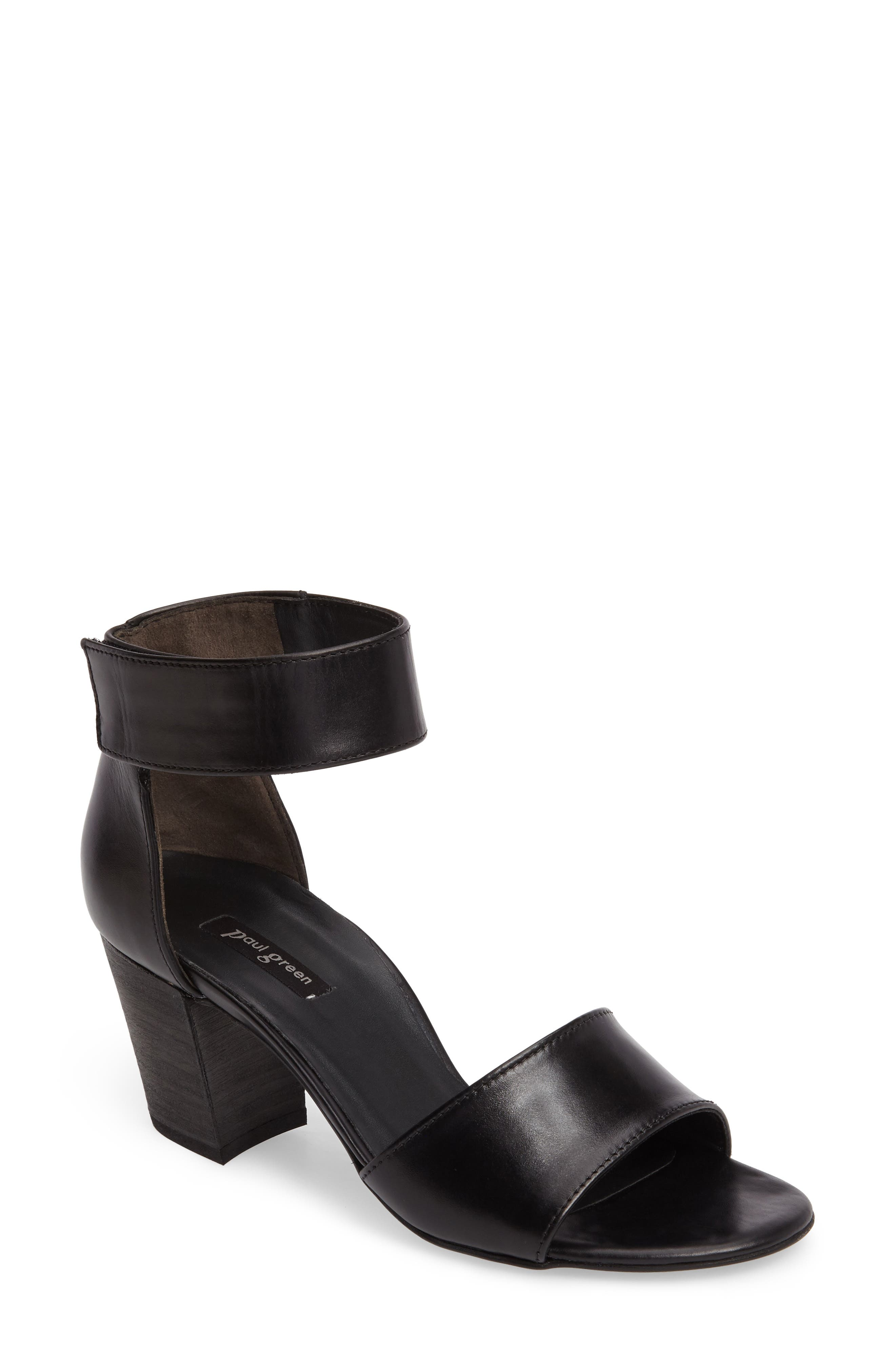 ,                             Mackenzie Ankle Strap Sandal,                             Main thumbnail 1, color,                             001