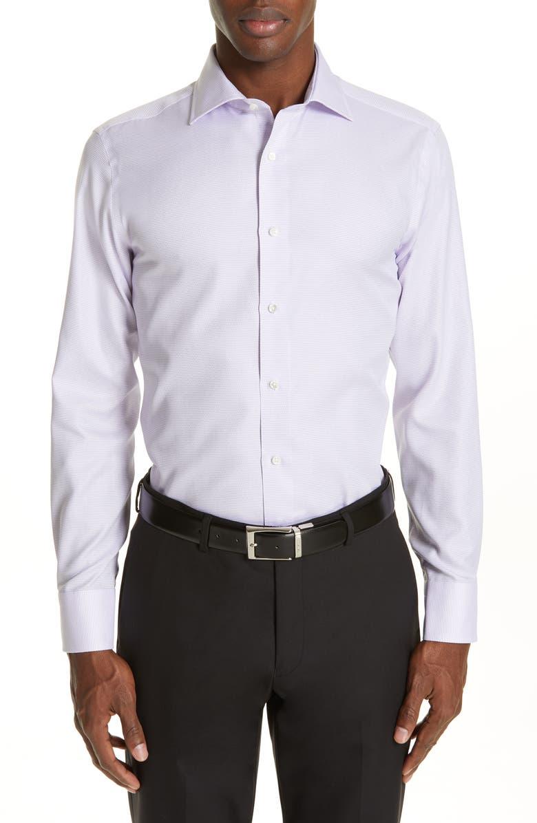 CANALI Slim Fit Print Dress Shirt, Main, color, 530