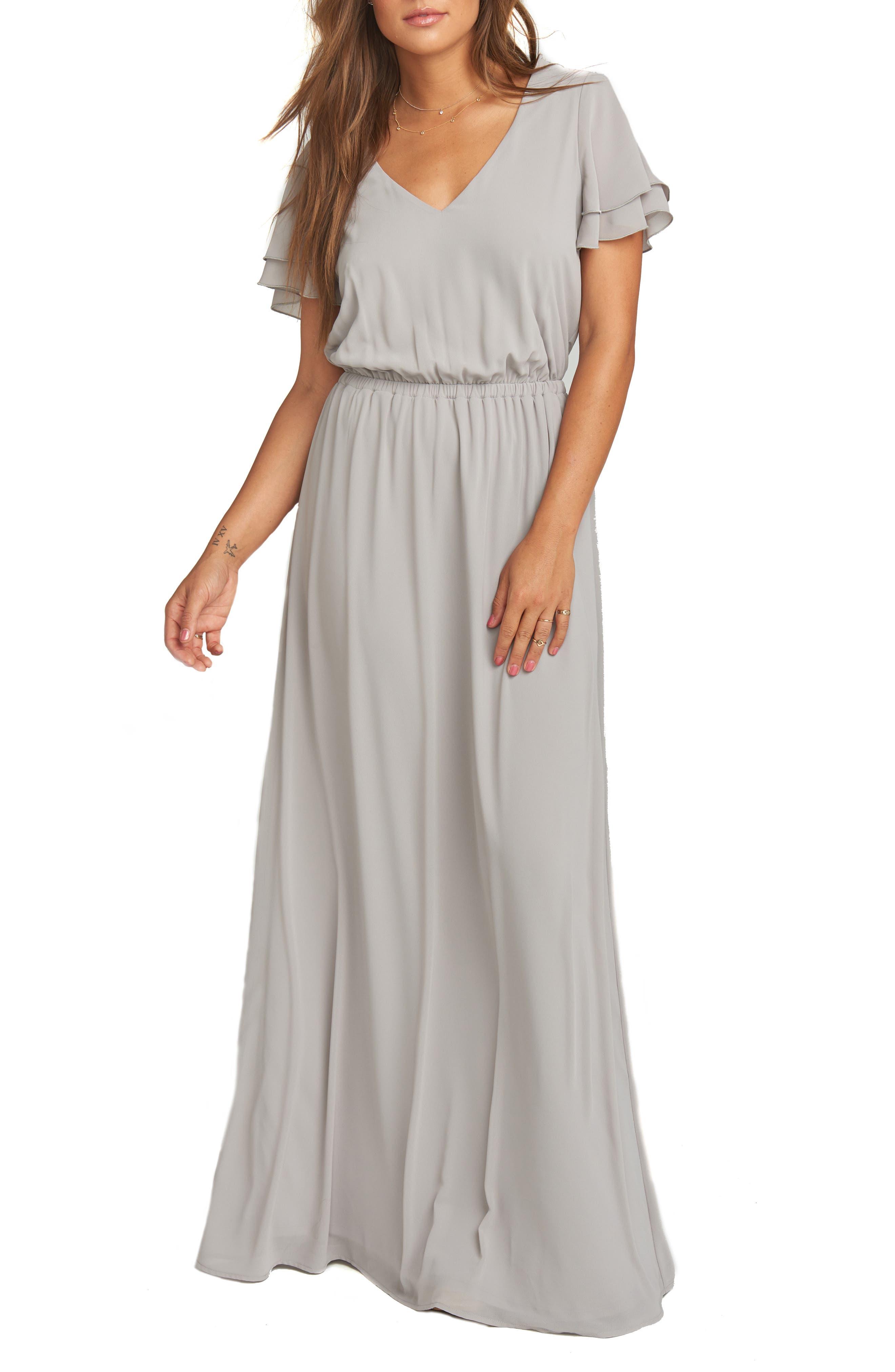 Show Me Your Mumu Michelle Maxi Dress, Grey