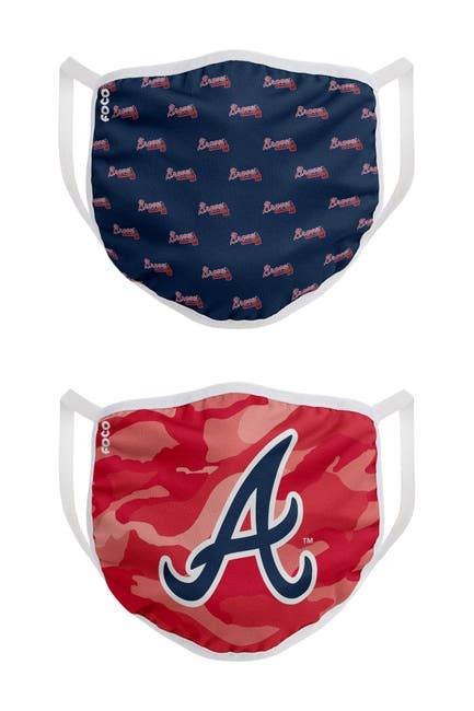 Image of FOCO NFL Atlanta Braves Clutch Printed Face Cover - Pack of 2