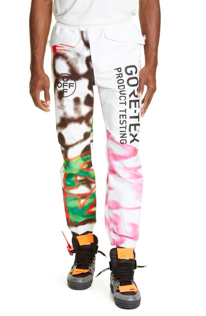 OFF-WHITE Gore-Tex<sup>®</sup> Pants, Main, color, WHITE MULTI