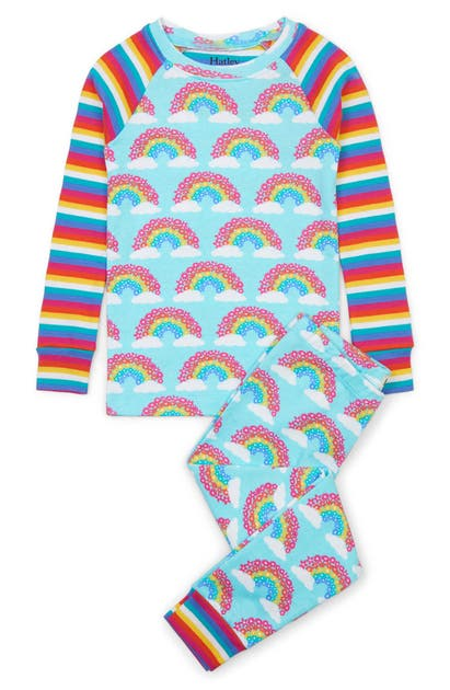 Hatley KIDS' MAGICAL RAINBOWS ORGANIC COTTON FITTED TWO-PIECE PAJAMAS