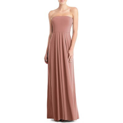 Dessy Collection Multi-Way Loop A-Line Gown, Pink